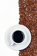 Material Metal Prints - Coffee Metal Print by Gert Lavsen