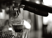 Black Prints - Coffee In Glass Print by JRJ-Photo
