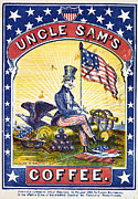 Uncle Sam Posters - COFFEE LABEL, c1863 Poster by Granger