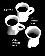 Thomas Jefferson Digital Art Metal Prints - Coffee Metal Print by Marianne Beukema