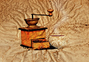 Commodities Art - Coffee Mill And Beans by Michal Boubin