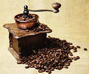 Kaffee Posters - Coffee Mill Poster by Falko Follert