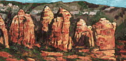 Sedona Paintings - Coffee Pot Rock by Sandy Tracey