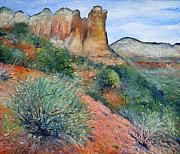 Enver Larney Art - Coffee Pot Rock Sedona Arizona USA 2001   by Enver Larney