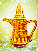 Teapot Posters - Coffee pot Poster by Tom Gowanlock