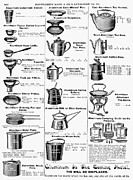 Montgomery Prints - Coffee Pots And Cookware Print by Granger