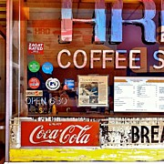 Signage Photos - Coffee Shop Window by Julie Gebhardt