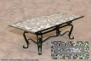Room Glass Art - Coffee Table by Diane Morizio