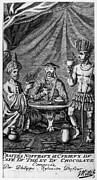 Coffee Drinking Framed Prints - Coffee, Tea & Chocolate, 1685 Framed Print by Granger