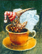 Fantasy Creature Paintings - Coffee Time by Lolita Bronzini