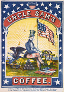 Coffee, Uncle Sams Coffee, Illustrated Print by Everett