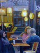Chatting Painting Originals - Coffee With Friends by Barbara Wilson