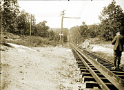 Train Tracks Photo Originals - Cog Railway by Jan Faul