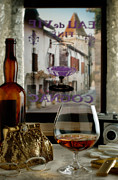 Cognac Framed Prints - Cognac Glass Framed Print by Bob Nardi