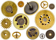 Industrial Background Posters - Cogwheels - Gears Poster by Michal Boubin