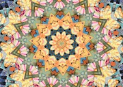 Mandala Photos - Cohokia Art Colors by Lisa Dunn