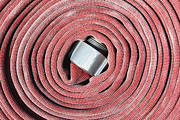 Coiled Fire Hose Print by Skip Nall