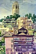 Coit Tower Framed Prints - Coit Tower Framed Print by Donald Maier