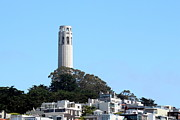 Coit Tower Framed Prints - Coit Tower Framed Print by Henrik Lehnerer