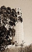 Coit Tower Framed Prints - Coit Tower San Francisco Framed Print by Douglas Barnett