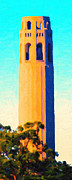 Bay Area Digital Art Posters - Coit Tower San Francisco Poster by Wingsdomain Art and Photography