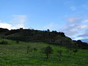 Cojitambo Ecuador Inca Ruins Print by Al Bourassa