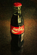 Coke Bottle Print by Wingsdomain Art and Photography
