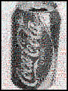 Coke Can Mosaic Print by Paul Van Scott