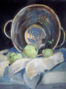 Food And Beverage Pastels - Colander by Sandra McClure