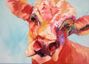 Ostrich Pastels - Colby the Cow by Gayle  George