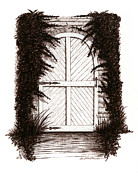 Sepia Ink Drawings - Cold Cellar by Daniel Paul Murphy