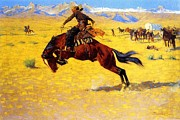 Frederic Remington Prints - Cold Morning on the Range Print by Pg Reproductions