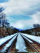 Cold Steel Rails Print by Dan Stone