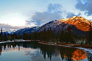 Banff Framed Prints - Cold Sunrise Framed Print by Andrea Hazel Ihlefeld