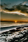 Florida Panhandle Framed Prints - Cold Sunset Framed Print by JOSEPH Sekora