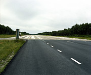 Europe Photo Originals - Cold War Hiway Landing Strip by Jan Faul