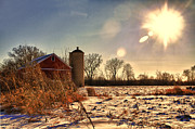 Red - Cold Winter Barn by Joel Witmeyer
