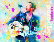 Coldplay Painting Posters - Coldplay Paradise Poster by Rosalina Atanasova