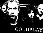 Coldplay Posters - Coldplay Poster by Paula Sharlea