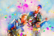 Coldplay Painting Posters - Coldplay Poster by Rosalina Atanasova