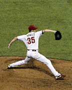 Phillies Photo Prints - Cole Hamels Print by Gerry Mann