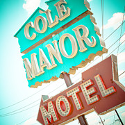Manor Prints - Cole Manor Motel Print by David Waldo