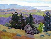 Sonoma Coast Framed Prints - Coleman Valley Vista Framed Print by Deborah Cushman