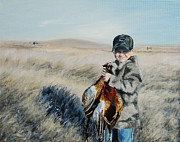 Cole's Pheasant Print by Conny Riley