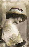 Vintage Hats Posters - Colette Poster by Marcie Adams Eastmans Studio Photography