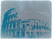 Europe Digital Art Metal Prints - Coliseum Metal Print by Irina  March