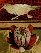 Flower Design Mixed Media Posters - Collage A6 Poster by Betty OHare