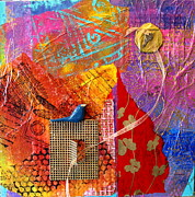 Kites Mixed Media - Collage Abstract 2 by Yvonne Feavearyear