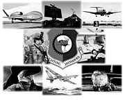Global Hawk Prints - Collage Print by Lyle Brown