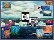Pm Ernst Painting Prints - Collage of Paintings Print by Pm Ernst